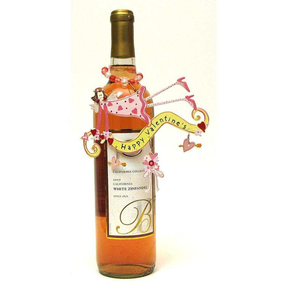 Iwgac Decorative Valentines Day Party Girl Wine Bottle Ornament Gift