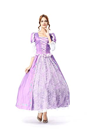 Amazon Com Belle Cosplay Costume Halloween Party Princess Dress For
