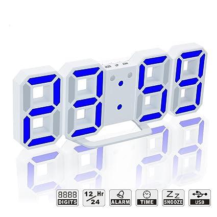 Amazon.com: LED Digital Alarm Clock For Desk / Shelf / Tabletop ...
