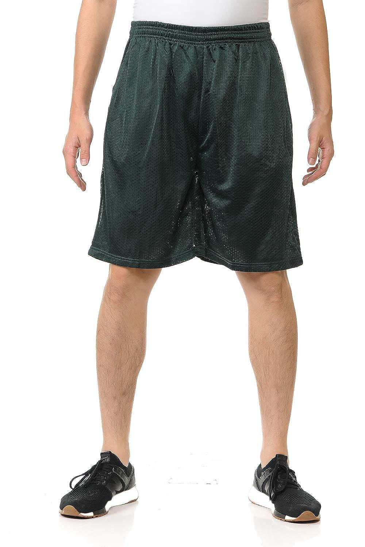 LA Gen - Men's Athletic Active Basketball Mesh Shorts Pocket, Sizes S-5XL