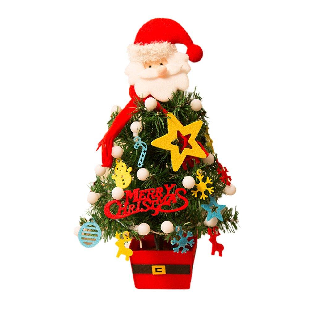 NibitoArtificial Flocking Christmas Tree LED Multicolor Lights Holiday Xmas Window Decorations (Multicolor)