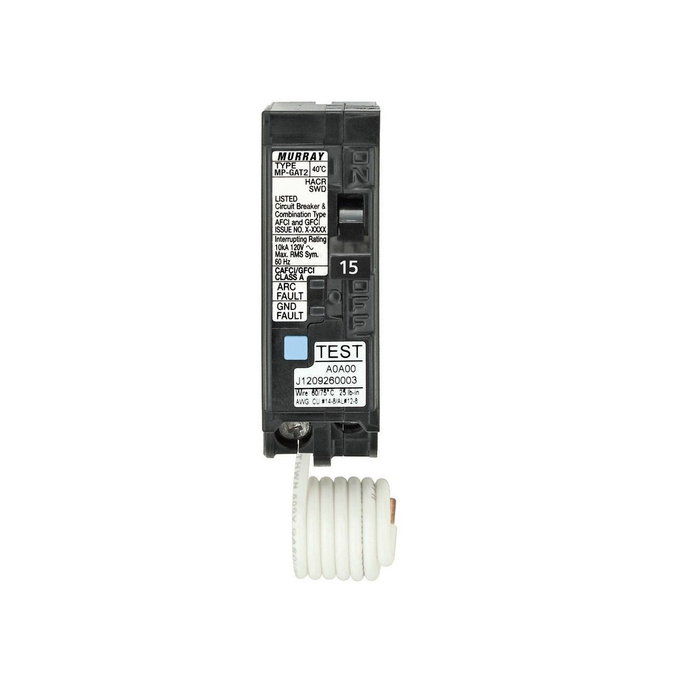 Murray MP115DFP 15 Amp AFCI/GFCI Dual Function Circuit Breaker