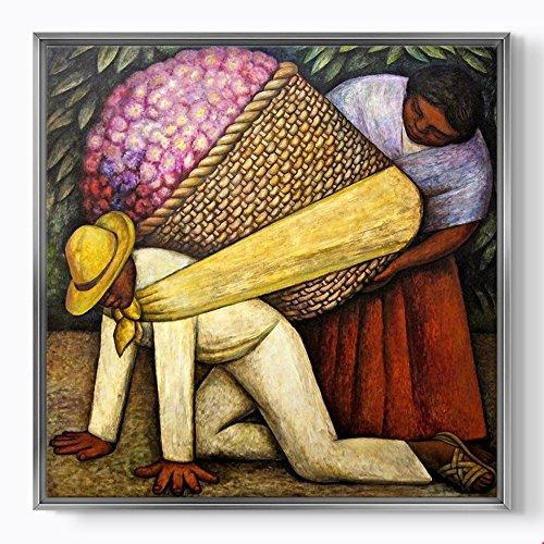 PlusCanvas - The Flower Carrier 1935 - Diego Rivera - 30 x 30cm (12