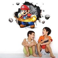 VAINECHAY Super Mario Muurschilderingen Sticker Muurschilderingen Decal Muurstickers voor Slaapkamers Woonkamer…