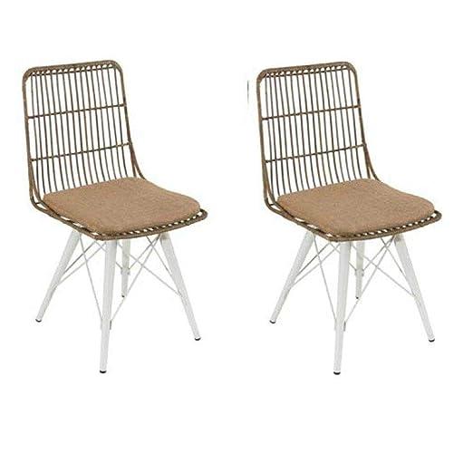Inside - Juego de 2 sillas escandinava Sidney: Amazon.es: Hogar