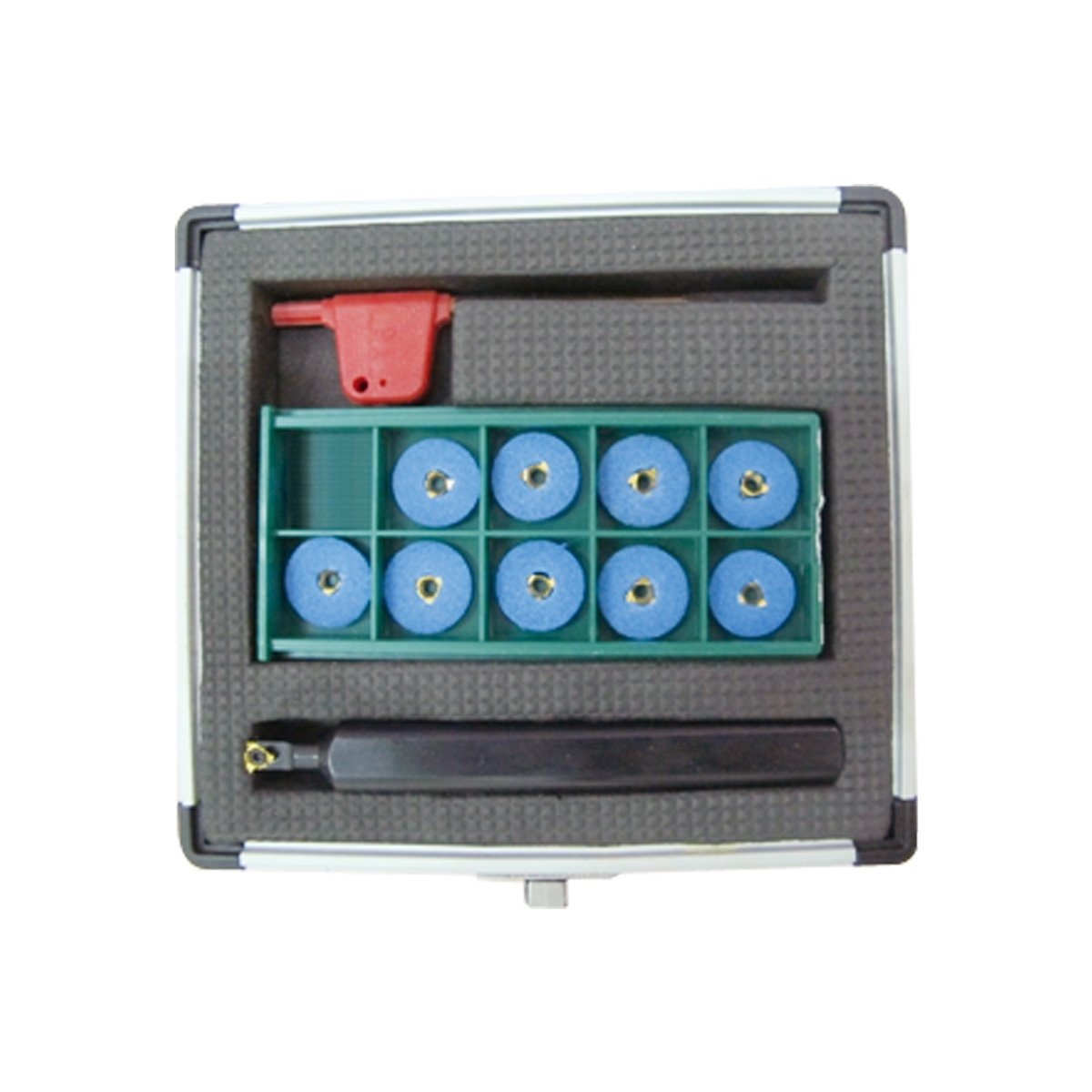 HHIP 2305-0625 5/8 x .830 x 5'' Mini Index able Threading Tool Holder Kit