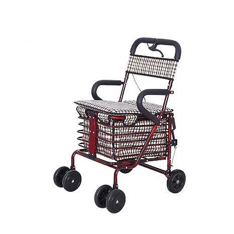 Yaciy Walker Rollator Con Sedile E Borsa Carrello Per La Spesa