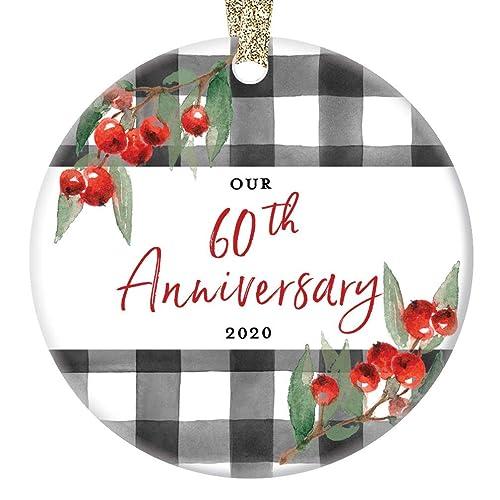Mom Over 60 Christmas 2020 Amazon.com: 60th Wedding Anniversary Ornament 2020 Christmas