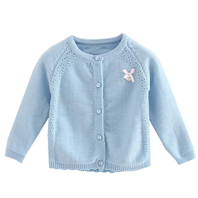 Amazon.com: Bebé Girls Princess chaqueta de punto Knit ...