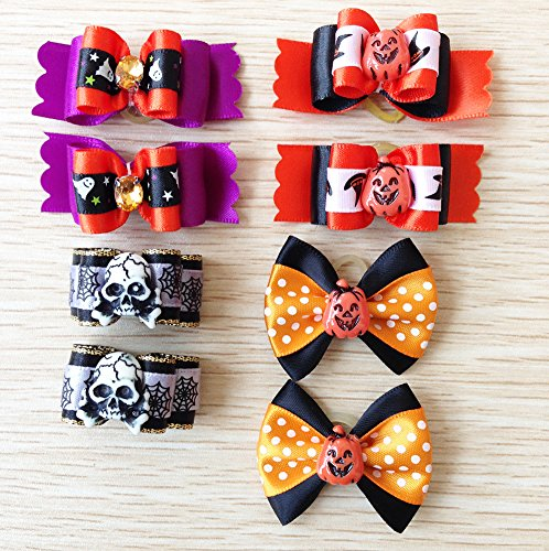 PET SHOW Assorted Styles Dog Hair Bows For Festival Party Pet Puppy Cats Hair Bow With Rubber Bands Accessories Pack of 20Pairs by PET SHOW (Image #1)
