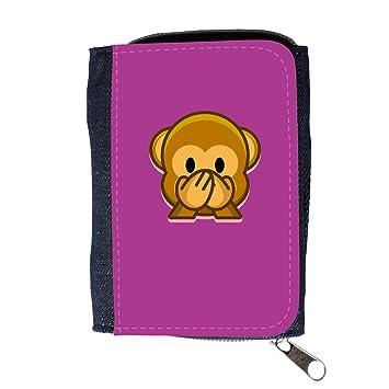 Cartera para hombre // Q05190621 Emoji mono 3 bizantino // Purse Wallet: Amazon.es: Electrónica