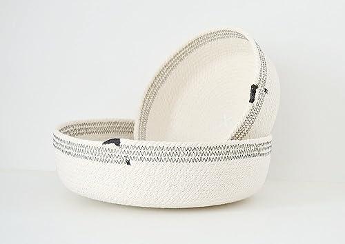 Cuencos de cuerda de algodón blanco y negro. ENVÍO GRATIS A ESPAÑA ...