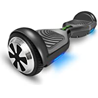 """VEEKO Hover Board Electric Scooter Hoverboard for Kids Adults UL2272 Certified Self Balancing Scooters 6.5"""" Two-Wheels 220LB Max Weight Up to 7.5 Miles Per Charge 10KM Top Speed Black Outdoor"""