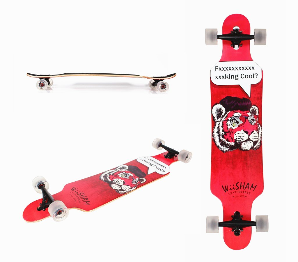 Xtreme Free Professional Speed Pintail Complete Longboard Skateboard(42 Inches) (19)