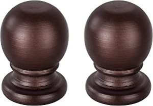 PEESIN 2 Pack Lamp Finials 1-3/4 in Threaded, Oil Rubbed Bronze Ball Lamp Finials, Steel Finial Lamp Shade Top Screw, Lamp Shade Finials Decorative for Table Lamps or Floor Lamps, Lamp Topper Knob