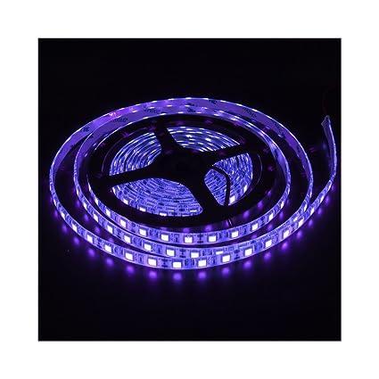 Amazon elcpark uv purple 5m 300 leds strip light 5050 smd elcpark uv purple 5m 300 leds strip light 5050 smd waterproof ip65 flexible led lighting strip aloadofball Choice Image