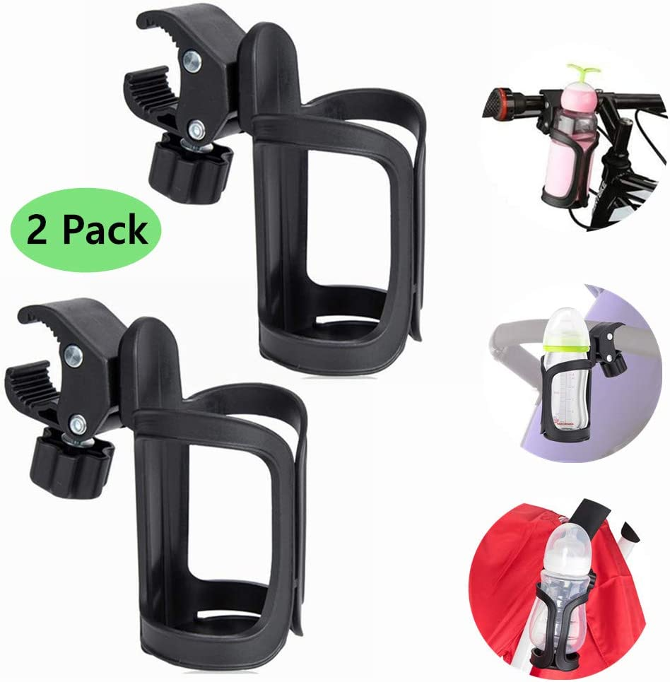 Bicycle Packs of 2 Cycling Bottle Cages Bike Cup Holder Universal 360/° Rotation Drink Water Bottle Stroller Bike Bracket for Baby Stroller//Pushchair Riiai Bike Cup Holder, Mountain Bikes