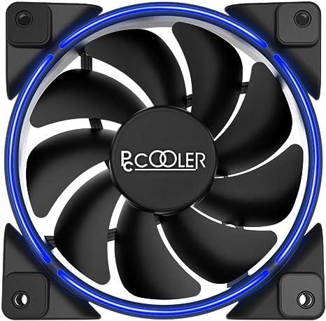 Pccooler Ventilador de 120 mm Serie Moonlight, PC-M120R LED rojo ...