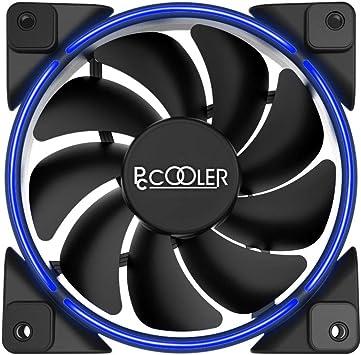 CONISY Aura Serie PC Fan 120mm LED Ventilador Silencioso para Caja de Ordenador rojo