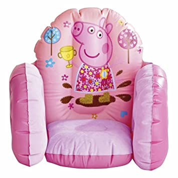 Childrenu0027s Peppa Pig Inflatable Vinyl Furniture Chair Toy By Underground Toy