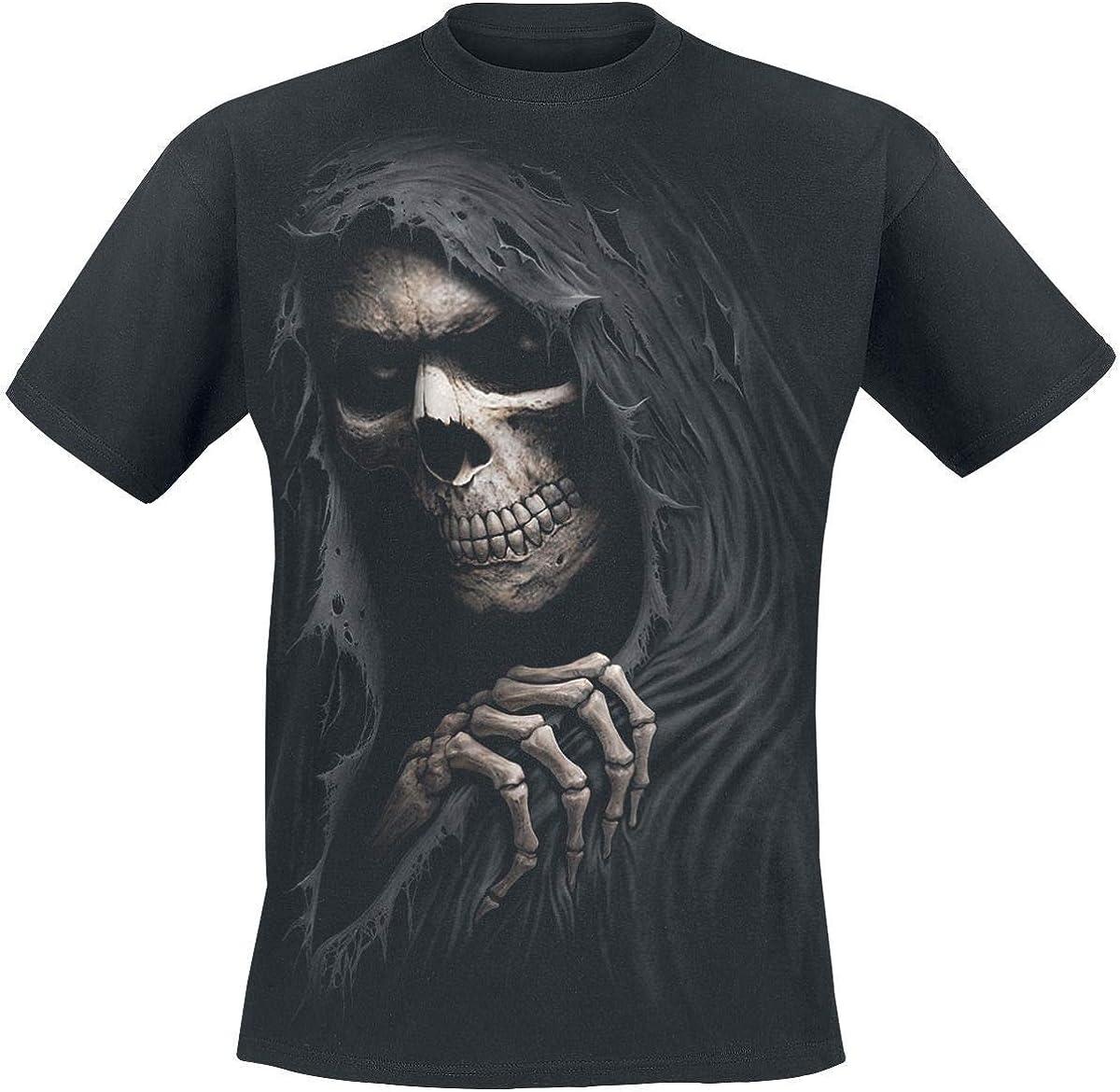 Spiral Direct Urban Fashion Sleeveless Gothic Hood Black, Top para Mujer