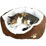 Hosaire Mascotas Mat - Perro y Gato Caliente Suave Camas para Mascotas Almohada Cama Cachorro Sofa Sofa Mat Perrera Pad Marrón