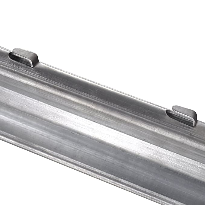 mewmewcat 10 STK Z-Profil Metall Zaunpfosten Zaunpfahl aus Verzinkter Stahl L/änge von 2 m
