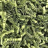 Black Cat Avenue 1 LB Green Tea Crinkle Cut Paper Shred Filler For Gift Wrap and Basket Filler