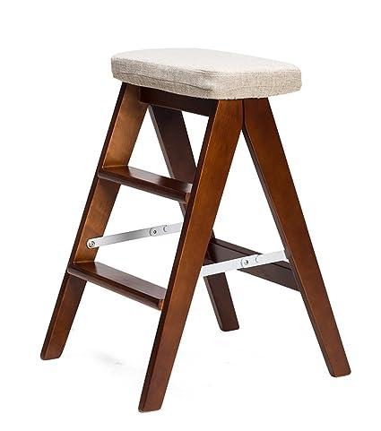 Remarkable Amazon Com Nydzdm Folding Stool Ladder With Cushion Dual Ibusinesslaw Wood Chair Design Ideas Ibusinesslaworg