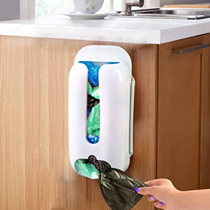 Wall Mount Plastic Bag Storage Container Hold Organizer Box, Cyclamen9 Bag  Holder Dispenser Grocery Plastic