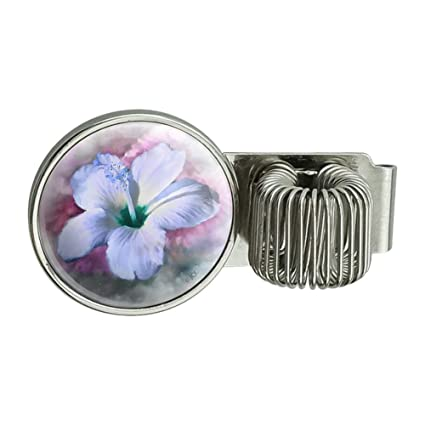 Amazoncom Tropical Blue Hibiscus Hawaiian Bloom Pen Holder Clip