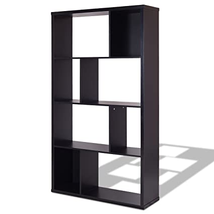 MyEasyShopping Modern Bookshelf Studio Display Stand Bookcase Storage Home Furniture Office Shelf Room Holder Wood Tier