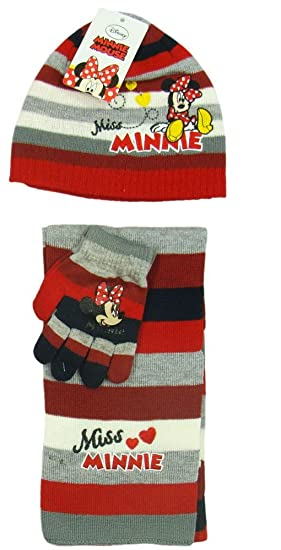 Minnie Maus Minnie Maus Winter Set Handschuhe Mütze Schal Gut