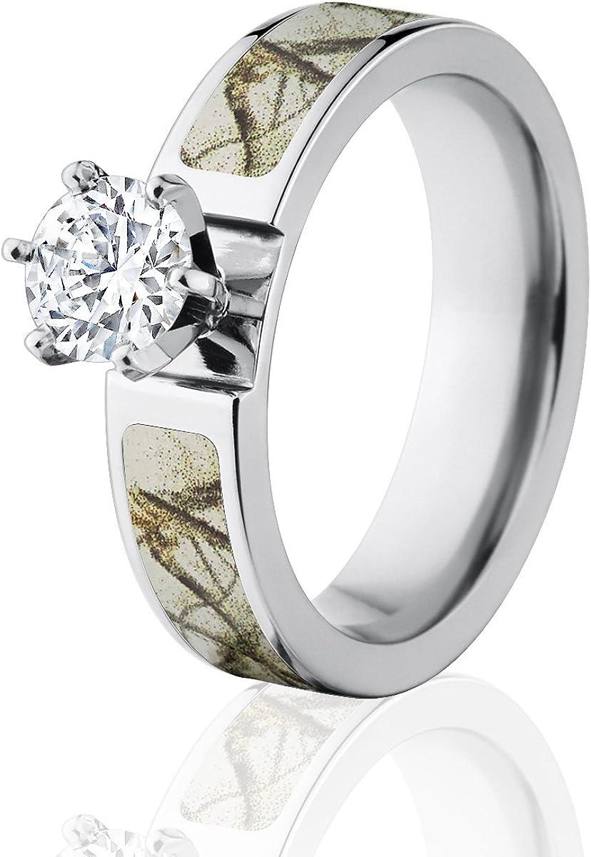 Amazon Com Camo Wedding Rings Realtree Ap Snow Camo Rings With 1