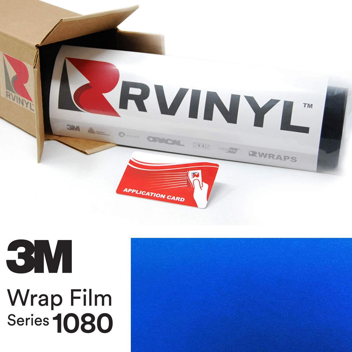 3M 1080 G337 Gloss Blue FIRE 5ft x 1ft W/Application Card Vinyl Vehicle Car Wrap Film Sheet Roll