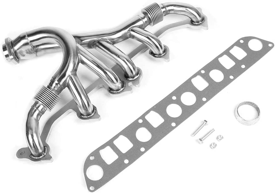 Exhaust Manifold Stainless Steel Exhaust Manifold Kit Improves the Output Power of Engine Fit for Jeep Grand Cherokee Wrangler L6 4.0L 1991-1999 Vehicle Accessories Replacement