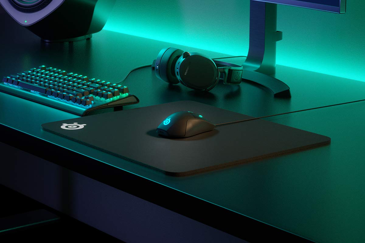 e9bd640cd26 SteelSeries QcK Heavy - Thick Gaming Mouse Pad - 450 x 400 x 6mm - Cloth -  Rubber Base - Black: Amazon.co.uk: PC & Video Games