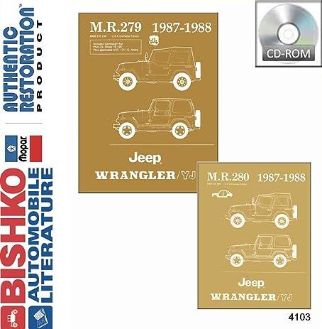amazon com 1987 1988 jeep wrangler yj shop service repair manual cd rh amazon com 1988 Jeep Models 1995 Jeep YJ