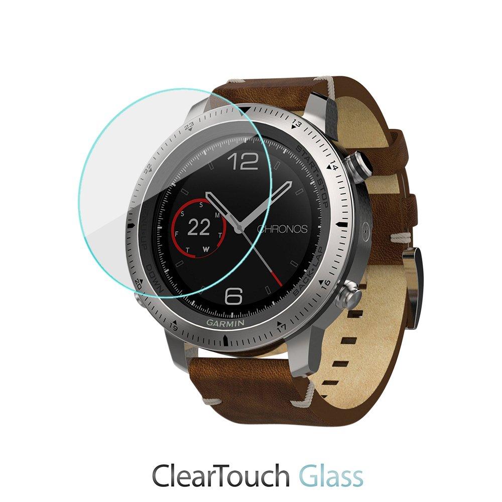 Garmin Fenix Chronosスクリーンプロテクター、BoxWave [ ClearTouchガラス] 9h強化ガラス画面保護for Garmin Fenix Chronos   B01MS4CYMX