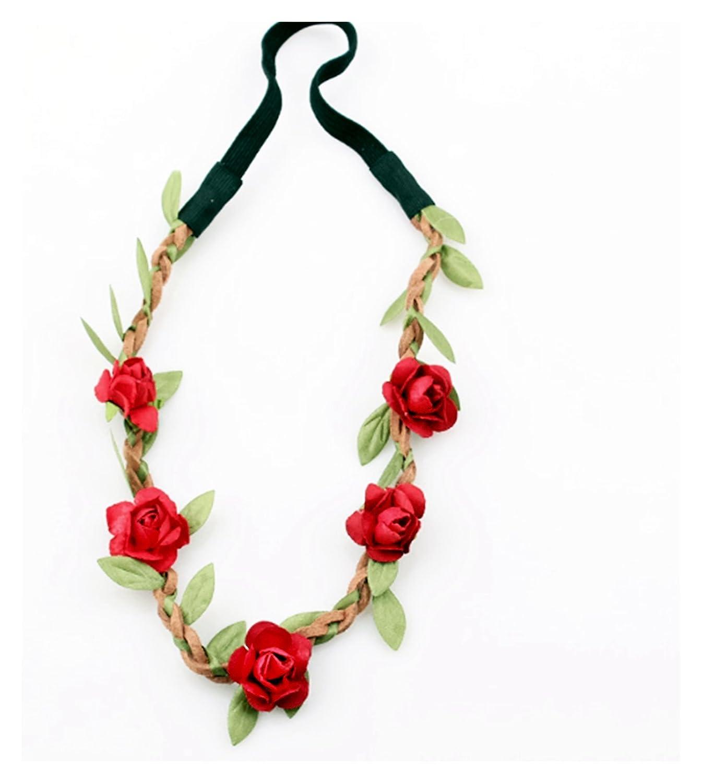 Festival de la Corona de flores hippy venda de Hairband boho floral boda de la dama Reino Unido (FCR...