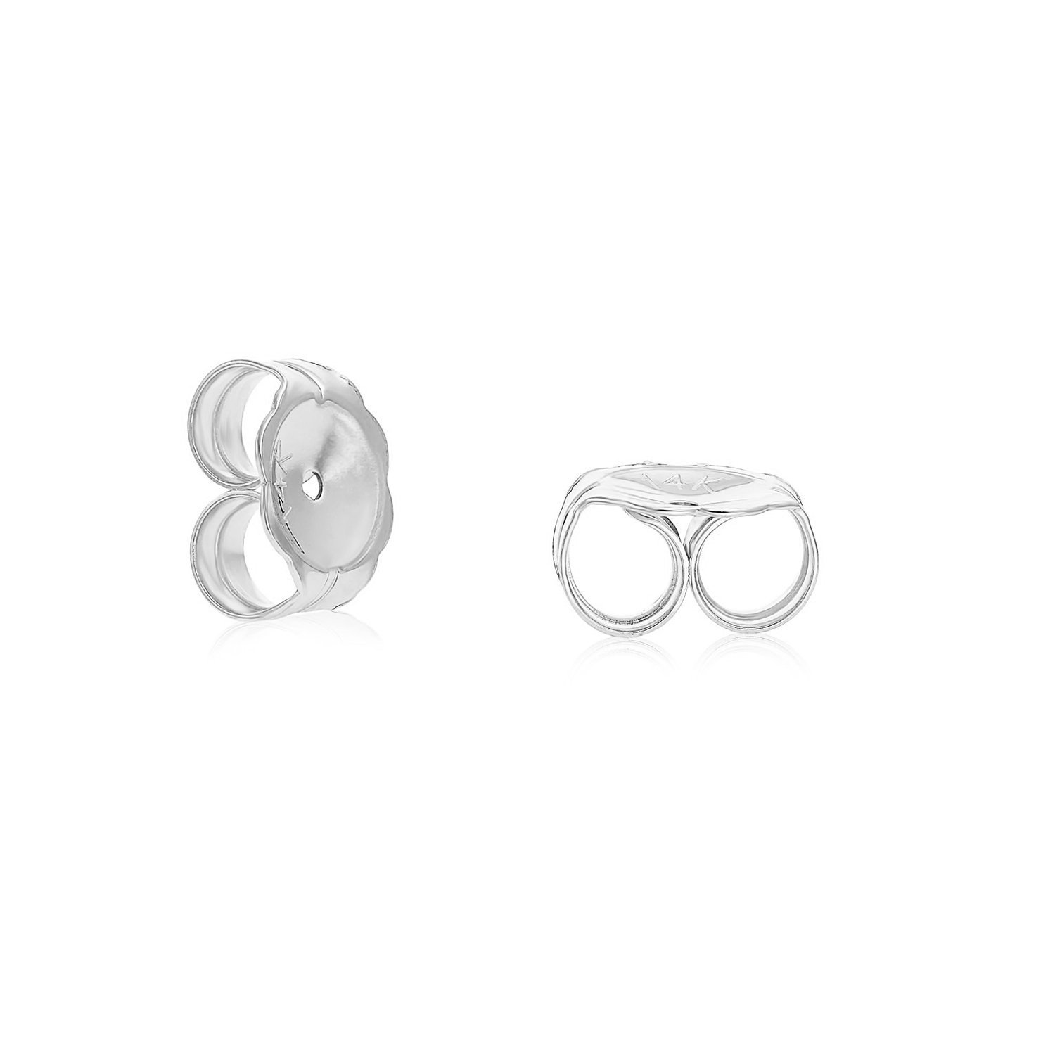 14k Gold Ball Stud Earrings with Secure and Comfortable Friction Backs 7mm Diameter