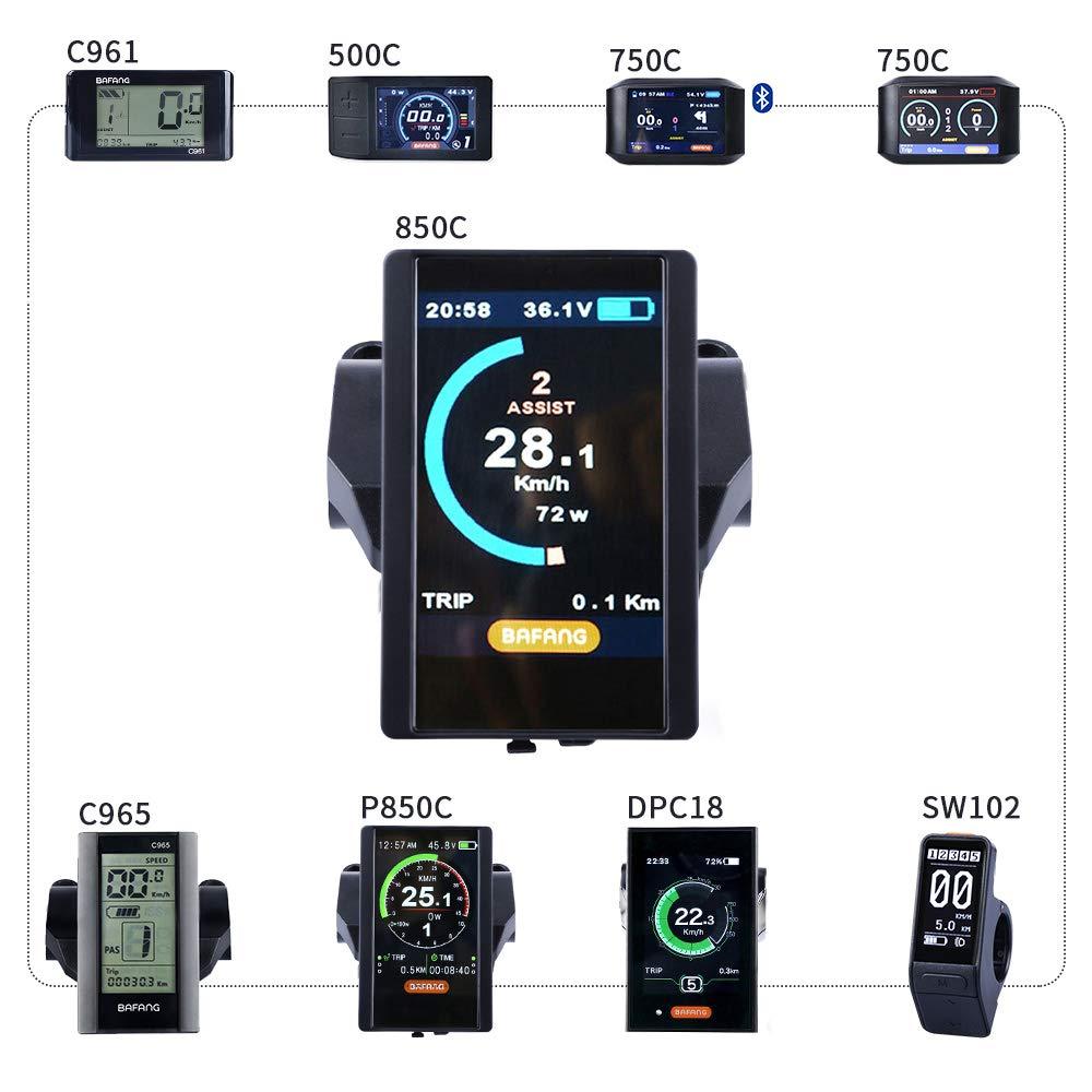 BAFANG HMI Colored Display Electric Bike Odometer Bike Speed Meter Mid Drive Motor(850C)