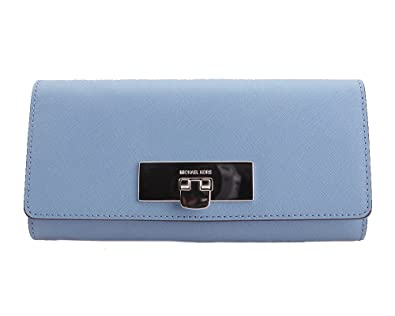 606f172aee Michael Kors Sky Blue Leather Callie Wallet Clutch at Amazon Women s  Clothing store