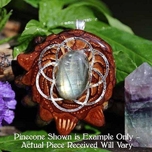 Labradorite with Seed of Life Third Eye Pinecone Pendant