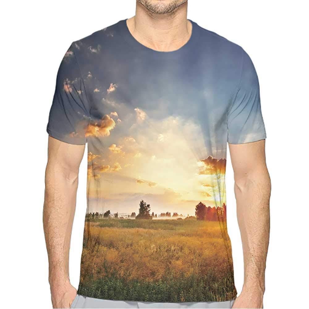 PRUNUS T-Shirts for Men Fashion Mens 3D Top Tees