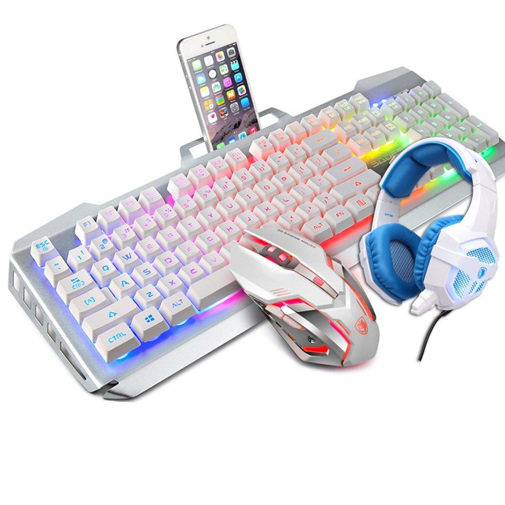 LEDバックライト付きゲーミングキーボード有線 (Color、アンチゴースト、耐スピン性キーボード、ゲームとタイピングに最適 : B07FSR18LQ (Color : White) B07FSR18LQ, 中古パソコン&ノート専門店 PC-X:8e49d494 --- elmont.su