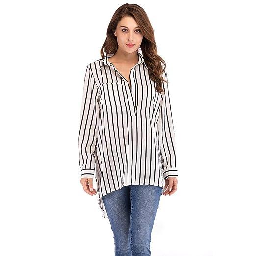 6ec1259c86d Amazon.com  Clearance Sales Striped Shirts Women Hot V neck Casual ...