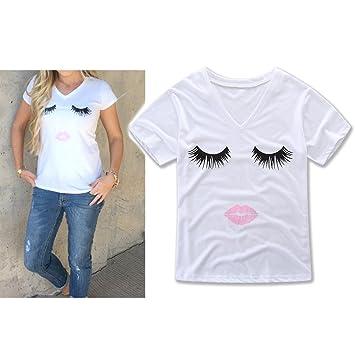 Zantec Camiseta Moda Baby Jumpsuit Ropa para Padres e Hijos Madre Camiseta de Manga Corta Algodón Sudor Absorbente Labios Ojos Patrón: Amazon.es: Hogar