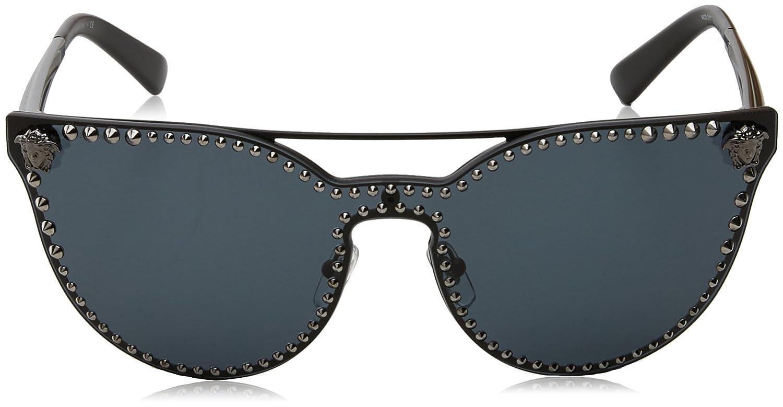 Versace Damen 0VE2177 125287 45 Sonnenbrille, (Pale Gold