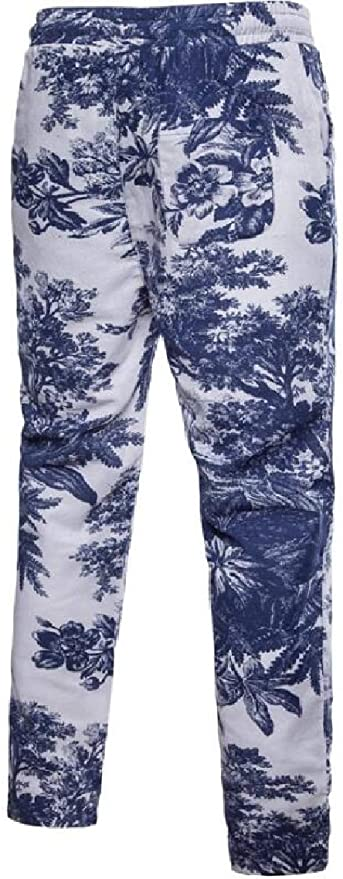 Spirio Mens Closed Bottom Drawstring Outwear Camo Casual Multi-Pocket Pants